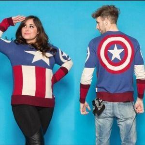 MARVEL Captain America Unisex XL Uniform Sweater